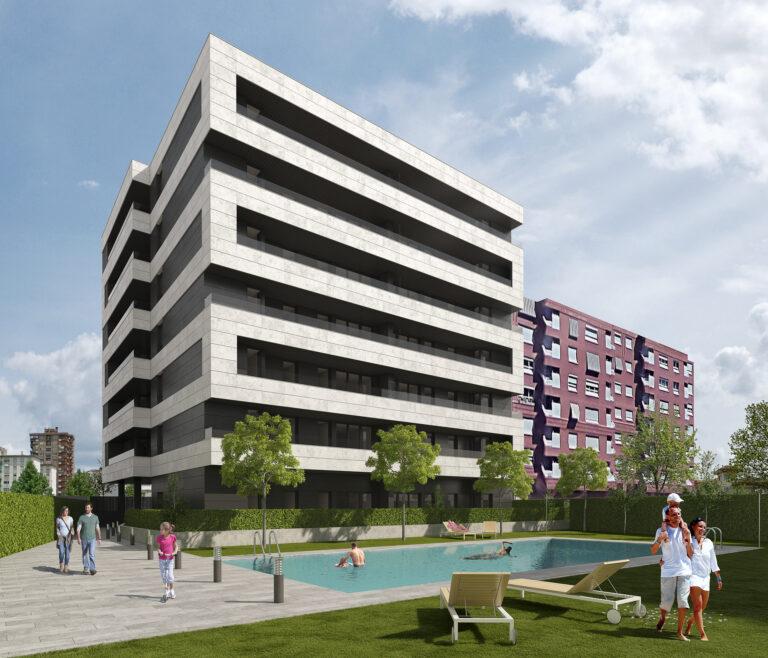 Proyecto Pedregales Bloque viviendas Logroño